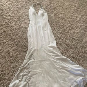 Jovani Winter White pageant/wedding/prom dress